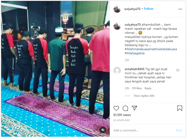 """Apa Yang Takut Sangat?"""" - Zul Yahya Seru Solat Jemaah Di Masjid Ikut 'Norma Lama' - Gosip Tempatan - Gosip - Forum - CARI Infonet"""